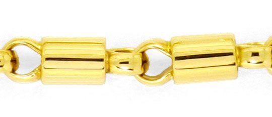 Foto 2, Goldarmband Design Phantasie Tonnen Muster Gelbgold 14K, K2489