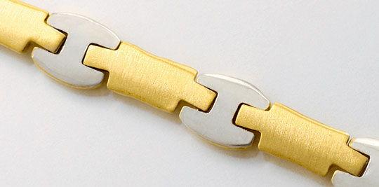 Foto 2, Design Gold Kollier Collier Teilmattiert massiv 18K/750, K2491