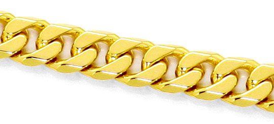 Foto 2, Flachpanzer Goldkette achtseitig geschliffen schwer 14K, K2492
