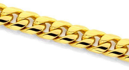 Foto 2, Gewoelbte Flachpanzer Goldkette massiv Gelbgold 14K/585, K2493