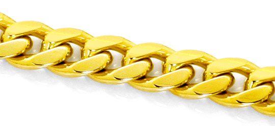 Foto 2, Schwere gewölbte Flachpanzer Goldkette Gelbgold 14K/585, K2494