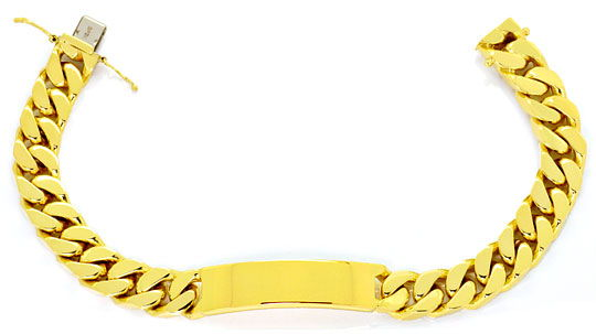 Foto 1, Schweres Identitäts Goldarmband massiv Gelbgold 14K/585, K2495