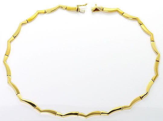 Foto 2, Garnitur Goldkollier Goldarmband Design Fantasie Muster, K2496