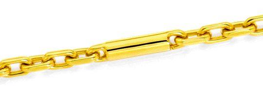 Foto 2, Anker Goldkette mit Langen Gold Zylindern Gelb Gold 14K, K2497