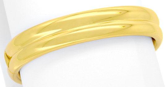 Foto 1, Goldarmreif Goldarmspange Kastenverschluss Gelbgold 18K, K2499