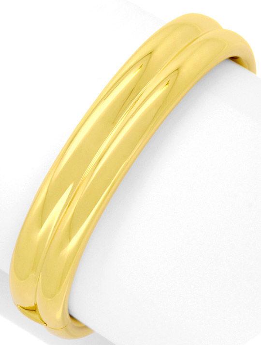 Foto 2, Goldarmreif Goldarmspange Kastenverschluss Gelbgold 18K, K2499