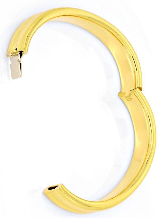 Foto 3, Goldarmreif Goldarmspange Kastenverschluss Gelbgold 18K, K2499
