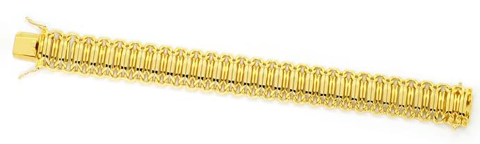 Foto 1, Goldarmband Phantasie Achter Muster massiv Gelbgold 18K, K2500