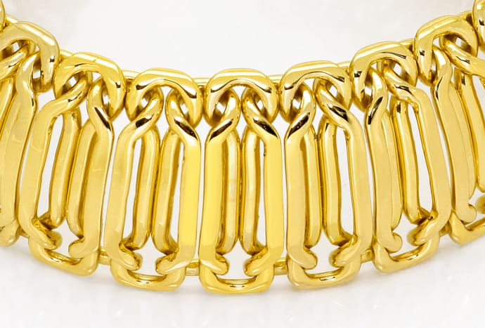 Foto 2, Goldarmband Phantasie Achter Muster massiv Gelbgold 18K, K2500