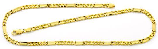 Foto 1, Goldkette Flachpanzer mit Plättchen massiv Gelbgold 14K, K2502