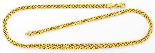 Foto 1, Goldkollier Zopfkette im Verlauf Kette Gelbgold 14K/585, K2504