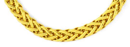 Foto 2, Goldkollier Zopfkette im Verlauf Kette Gelbgold 14K/585, K2504