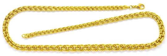Foto 1, Massives Goldkollier Garibaldi Verlauf Gelbgold 14K/585, K2507