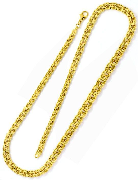 Foto 3, Massives Goldkollier Garibaldi Verlauf Gelbgold 14K/585, K2507