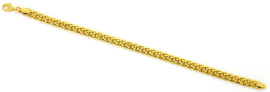 Foto 1, Goldarmband Zopfmuster Karabinerverschluss Gelbgold 14K, K2516