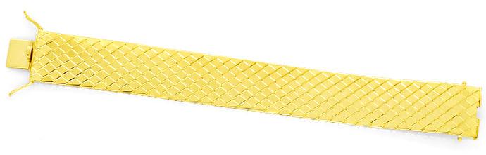 Foto 1, Goldarmband Aufwendiges Schuppenmuster massiv Gelb Gold, K2517
