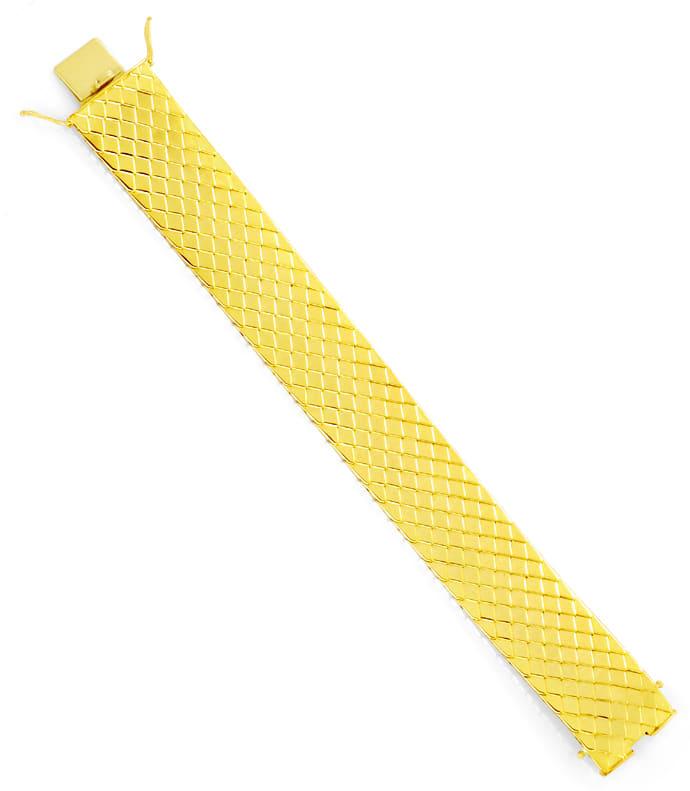 Foto 3, Goldarmband Aufwendiges Schuppenmuster massiv Gelb Gold, K2517