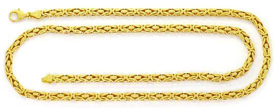 Foto 1, Massive schwere Königskette 80cm lang, 14K/585 Gelbgold, K2522