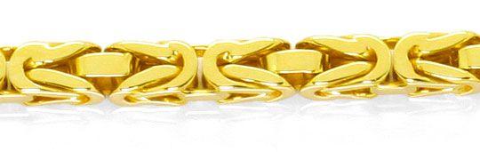Foto 2, Massive schwere Königskette 80cm lang, 14K/585 Gelbgold, K2522