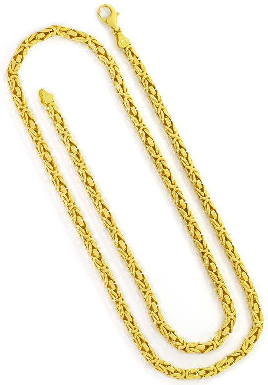 Foto 3, Massive schwere Königskette 80cm lang, 14K/585 Gelbgold, K2522