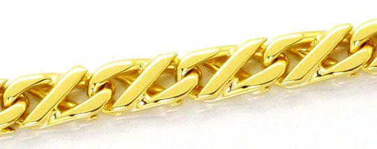 Foto 2, Massive Gold Kette Dollar Muster Karabiner Gelbgold 18K, K2525