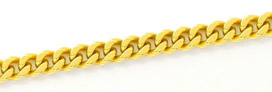 Foto 2, Flachpanzerkette Karabiner Verschluss Gelb Gold 14K/585, K2526