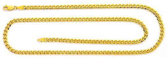 Foto 1, Flachpanzer Gold Kette Karabinerverschluss Gelbgold 14K, K2527