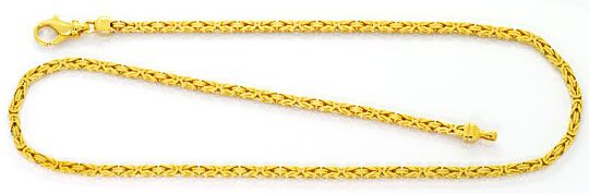 Foto 1, Goldkette Königskette Karabiner massiv Gelbgold 14K/585, K2530