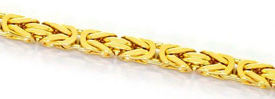 Foto 2, Goldkette Königskette Karabiner massiv Gelbgold 14K/585, K2530