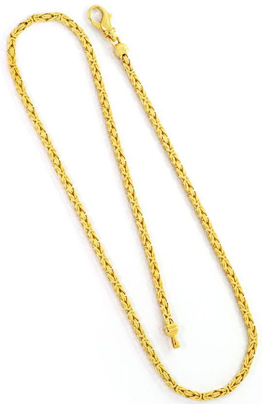 Foto 3, Goldkette Königskette Karabiner massiv Gelbgold 14K/585, K2530