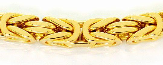 Foto 2, Königsketten Goldarmband Karabiner, massiv Gelbgold 14K, K2531