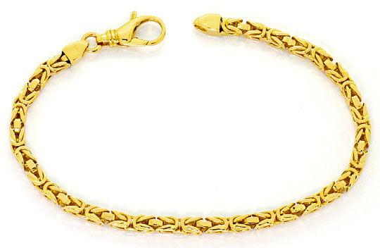 Foto 1, Goldarmband Königsketten Muster massiv Gelbgold 14K/585, K2532