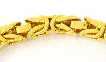 Foto 2, Goldarmband Königsketten Muster massiv Gelbgold 14K/585, K2532