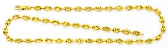 Foto 1, Bohnen Gold Kette Schiffsanker Marina Gelb Gold 18K/750, K2534