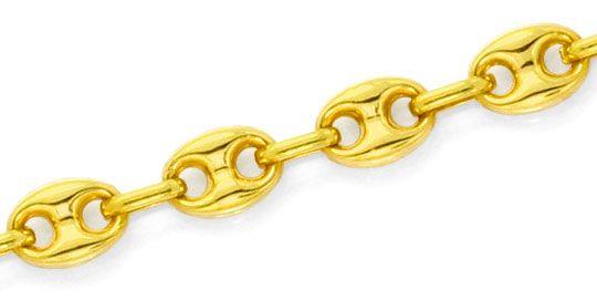 Foto 2, Bohnen Gold Kette Schiffsanker Marina Gelb Gold 18K/750, K2534