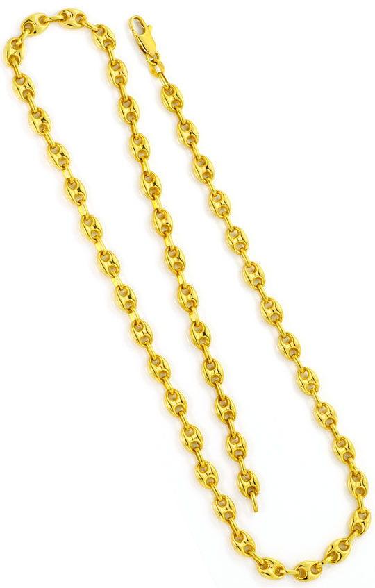 Foto 3, Bohnen Gold Kette Schiffsanker Marina Gelb Gold 18K/750, K2534