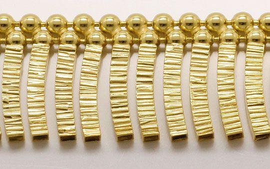 Foto 2, Goldkollier Stäbchen Muster, Goldkette Gelbgold 14K/585, K2536