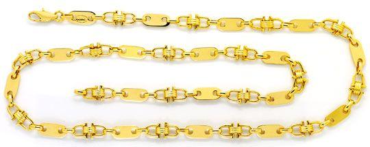 Foto 1, Plättchen Steigbügel Goldkette, massiv Gelbgold 14K/585, K2538