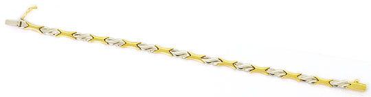 Foto 1, Set Kollier und Armband Designer Muster Gelb Weiss Gold, K2539
