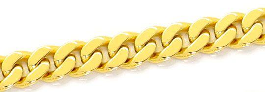 Foto 2, Flachpanzer Kette massive Goldkette Karabiner Gelb Gold, K2543
