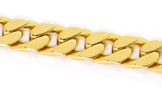 Foto 2, Breite massive Flachpanzer Gold Kette 51cm Gelbgold 14K, K2545