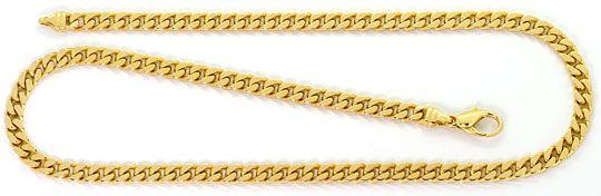 Foto 1, Flachpanzerkette massive Goldkette Gelbgold 14Karat/585, K2550