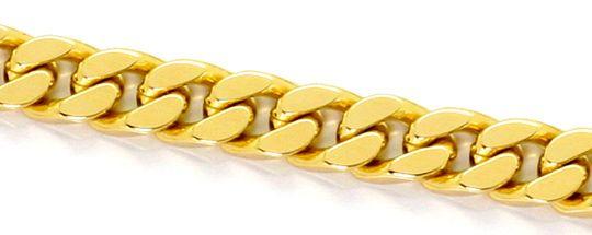 Foto 2, Flachpanzerkette massive Goldkette Gelbgold 14Karat/585, K2550