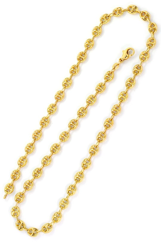 Foto 3, Bohnen  Marina  Schiffsanker Goldkette Gelbgold 14K/585, K2552