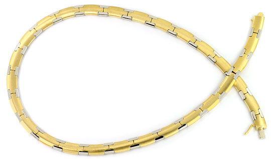Foto 2, Set aus Kette und Armband massiv Gelbgold Weissgold 14K, K2554