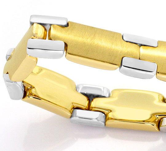 Foto 3, Set aus Kette und Armband massiv Gelbgold Weissgold 14K, K2554