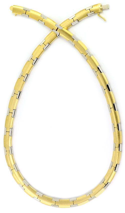 Foto 5, Set aus Kette und Armband massiv Gelbgold Weissgold 14K, K2554