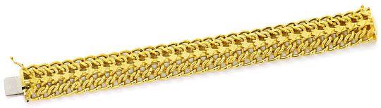 Foto 1, Gold Armband vierreihiges Panzerband Gelbgold 14K / 585, K2555