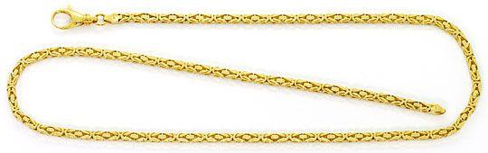 Foto 2, Goldkette und Goldarmband Königskettenmuster massiv 18K, K2569