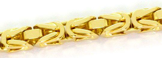 Foto 3, Goldkette und Goldarmband Königskettenmuster massiv 18K, K2569